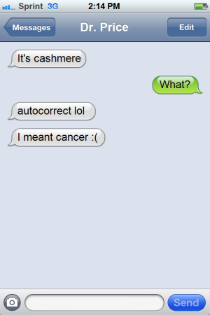 inappropriate text message from doctor
